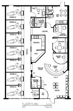 Day spa floor plan interior plann spa floor for 2000 sq ft shop plans