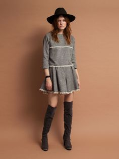 ダズリン|dazzlin公式ファッション通販|ランウェイチャンネル【W】ヘリンボーンフリンジキュロットの詳細情報| RUNWAY channel(ランウェイチャンネル)(021540701001)