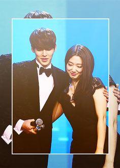Park Shin Hye & Kim Woo Bin at the 2013 Anhui TV Drama Awards in Beijing ♡ #Kdrama. They looks good together