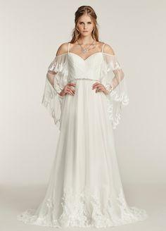 Bridal Gown, Wedding Dress by Ti Adora - Style 7551 #weddingdress #Bohowedding #Boho