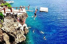 Boracay island philippines, Beautiful beach and cliff diving at ariels point in boracay island