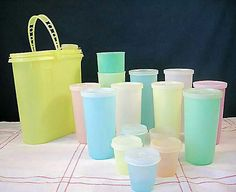 Tupperware! Love it! I miss that rubbery plastic taste to my drinks. LOL