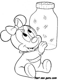 Disney Babies Coloring Pages Pooh and Tigger Disney Babies ...