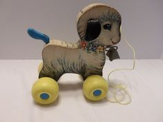 Vintage Fisher-Price pull toy Little Lamb No. 684
