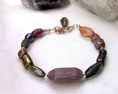 Lavender glass bracelet, pastel purple bracelet, simple glass bead jewelry, casual glass b... $22