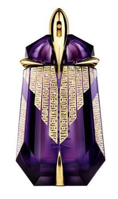 Thierry Mugler Alien Giant Golden Excess :: This is a bottle available as a limited edition, in amount of 1 liter, decorated with real gold and Swarovski crystals. Interior of the bottle hides 'extraterrestrial' juices of magical Alien elixir composed of Indian jasmine, woody aromas and white musk.