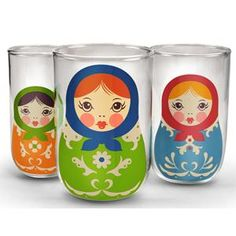 Babushkups nesting doll glasses - Santa brought these to me this year! YAY!