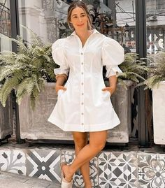White Fashion, Work Fashion, Mini Frock, Gala Design, Frock For Women, Cute Summer Outfits, Lovely Dresses, African Fashion, Fashion Photography