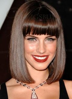 TRY THIS!!!! medium bob straight synthetic wig