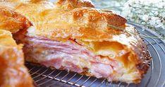 Ζουμερή και εύκολη Ζαμπονοτυρόπιτα με μπεσαμέλ   Hole Cheese Pies, Ham And Cheese, Cookbook Recipes, Cooking Recipes, Good Enough To Eat, Lasagna, Sandwiches, Yummy Food, Delicious Recipes