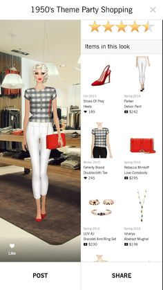1950s theme party shopping