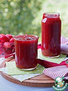 Клубничный джем. Клубника — 1 кг Сахар — 1/2 кг Желирующая смесь (Желфикс 2:1) — 1 шт
