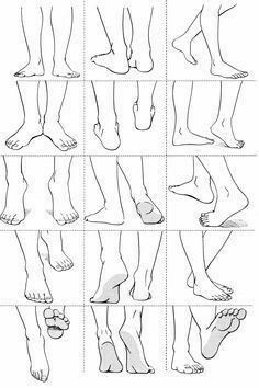 feet references - drawing - foot - ankle - anatomy - drawing tutorial You ar. Anime Poses Reference, Hand Reference, Figure Drawing Reference, Anatomy Reference, Design Reference, Feet Drawing, Drawing Body Poses, Drawing Tips, Drawing Drawing