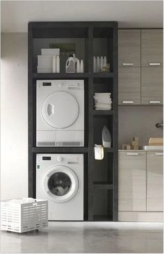 """Fantastic """"laundry room storage diy shelves"""" information is available on our internet site. Check it out and you wont be sorry you did. Laundry Closet, Laundry Room Organization, Small Laundry, Laundry Room Design, Laundry Rooms, Basement Laundry, Compact Laundry, Bathroom Laundry, Small Storage"""