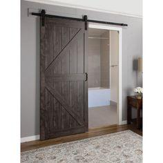 Erias Home Designs Continental MDF Engineered Wood 1 Panel Interior Barn Door & Reviews | Wayfair