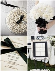 Black and white #wedding ideas www.finditforweddings.com