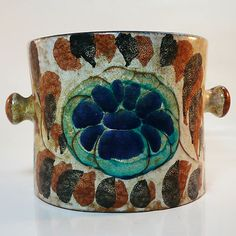 West German Pottery Fat Lava Übertopf / Planter by Roth
