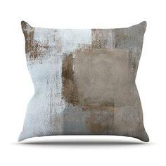 "KESS InHouse Calm and Neutral by CarolLynn Tice Throw Pillow Size: 18'' H x 18'' W x 1"" D"