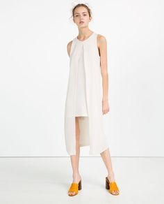 Image 2 of DOUBLE-LAYER MID-LENGTH DRESS from Zara