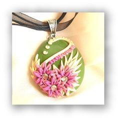 Pink flowers applique