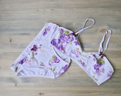 Floral cotton panties - organic womens underwear - romantic lingerie - made to measure on Etsy, $30.00