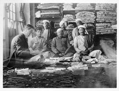 Jacques Cartier with Indian gemstone merchants, 1911, Cartier Archives.  via: Reena Ahluwalia's Photos on Facebook