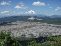 (Yretk, CA) A view of Little Glass Mountain from Mount Hoffman with Mount Shasta in the background. (I've never heard of this!)