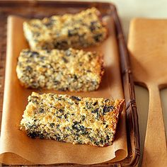 Or bake spinach into quinoa bars that can be made ahead and served room temp or reheated. | 29 Ways To Eat More Veggies For Breakfast
