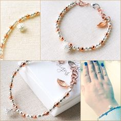 Rose gold skinny bracelet ideal for everyday day wear. Cute dandelion charm. Birthday gift for her