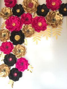Paper flower backdrop Kate Spade inspired/Paper flower