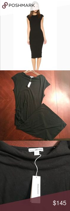 James Perse Midi Dress, Size 4/Large James Perse Midi Dress in Black. New with tags. Size 4 (in James Perse, this equates to a size large). Perfect essential LBD, can be dressed up or down. Hate to sell this, but i outgrew it before I could wear it. James Perse Dresses Midi