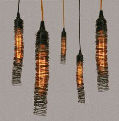 #91 Week of Wire ~ Pendant Lighting http://bricolage-julier.blogspot.com