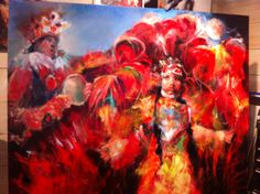 Garland Robinette's latest Mardi Gras Indian called Facing Future~ In progress
