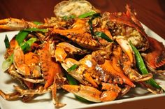 Asian Crab Recipe, Blue Crab Recipes, Lobster Recipes, Seafood Recipes, Asian Recipes, Cooking Recipes, Asian Foods, Crawfish Recipes, Chinese Blue Crab Recipe