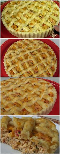 TORTA CREMOSA DE FRANGO... A MELHOR DE TODAS! MASSA E RECHEIO DELICIOSOS!!! (veja como fazer) #torta #frango #tortadefrango