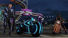 The newest update to GTA Online doesn't carry the general vibe most people associate with Grand Theft Auto. This is more futuristic, more surreal, more Tron. (Listen, we all know it's Tron but don't call it Tron, alright? Playstation, Xbox 360, Ps4, V Games, Best Games, Video Games, Gta Online, New Gta, Grand Theft Auto Series