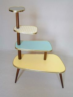 PLANT STAND Danish Modern 50s 60s. I love this so much I can barely stand it. No pun intended.