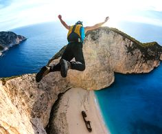 Base Jumping @ Zakynthos, Greece #basejump #ridersmatch #extremesport