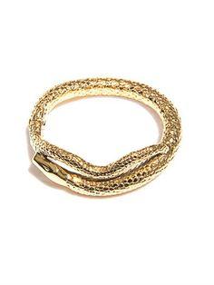 Tao gold-plated snake bracelet | Aurélie Bidermann | MATCHESFA...