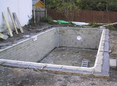 DIY with cinder blocks | ... to the outer edge of the pool concrete is poured to form a ring beam