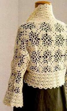 Crochet Sweater: Crochet Patterns of Shrug - Elegant