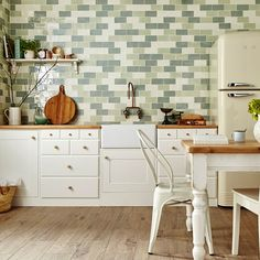 Bring some Spring greens into your home with these gorgeous, bumpy, rustic Country Cottage Metro Tiles. Perfect for creating a farmhouse look splashback in your kitchen... https://www.wallsandfloors.co.uk/range/country-cottage-metro-tiles
