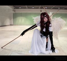 I want to do this so hard.  Alodia cosplaying Angel Sanctuary's Alexiel