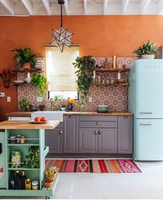 Colorful Earthy Eclectic Kitchen
