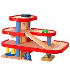 Wooden garage toy  - toys for boys -  -  - 3+ - wooden toy cars
