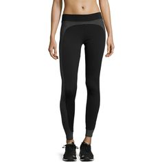 Solow Side Panel Leggings ($40) ❤ liked on Polyvore featuring pants, leggings, pull on pants, wicking pants, solow, solow pants and side panel leggings
