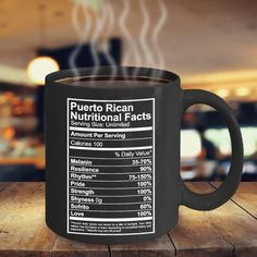 Aren't we all made out of pure Puerto Rican awesomeness with added 100% Pride & Love? This mug is a must have! The perfect GIFT for a Coffee Lover. Not Sold in Stores! Estimated delivery within 6-9 bu