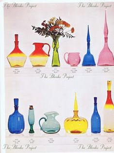 The Blenko Project is dedicated to recording the past, analyzing the present and being an advocate for the growth and preservation of BLENKO GLASS. Blenko Glass, Glass Company, Blown Glass, Rainbow Colors, Preserves, Glass Art, Condo, Porcelain, Artsy