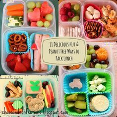 TONS of nut and peanut free school lunch ideas   packed in #EasyLunchboxes containers