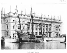 The Santa Maria at the World's Columbian Exposition (also known as the Chicago World's Fair), Daniel Burnham World's Columbian Exposition, White City, I Want To Travel, World's Fair, Back In Time, Lake Michigan, Paris Skyline, Louvre, Chicago